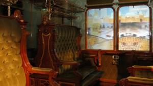 Foto van het kunstwerk Schilderij-treinreis in het Spoorwegmuseum te Utrecht