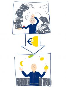 Illustratie over Eerste Hulp bij Administratiestress