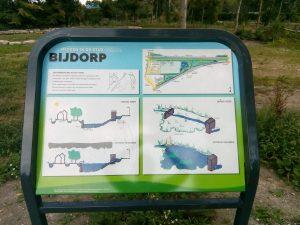 Informatiebord in park Bijdorp over de werking van de waterbering