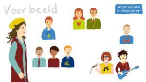 Still uit de animatie: de stakeholders