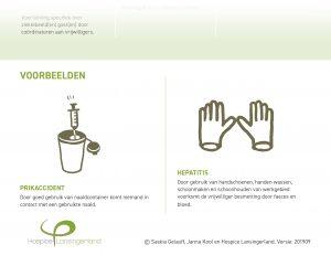 Deel van Risico Inventarisatie en Evaluatie over handschoenen en naaldcontainer