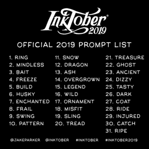 #inktober official list words