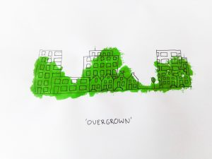 #inktober2019 Overgrown