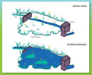 Infographic over de werking van de flexibele waterbering