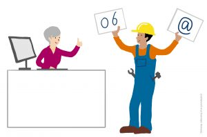 Illustraties-voor-de-rapportage-van-online-bijeenkomsten_Opnemen-contactmogelijkheden