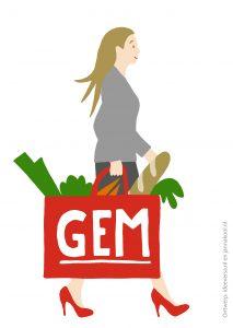 Illustraties-voor-de-rapportage-van-online-bijeenkomsten_Shoppende-burger