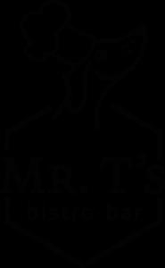 Logo Mr. T's bistro-bar in zwart wit