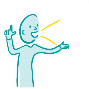 Effectief stemgebruik icoonontwerp voor Rotterdamse ondernemer Anke Boereboom Illustraties, iconen en infographics tegen faalangst